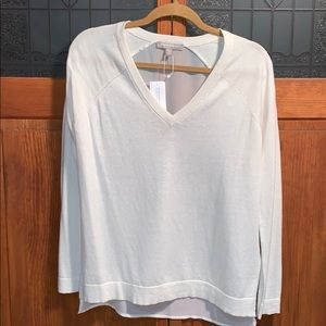 NWT Cream Sweater with sheer back